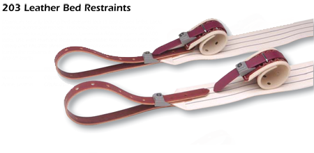 203 Leather Bed Restraints